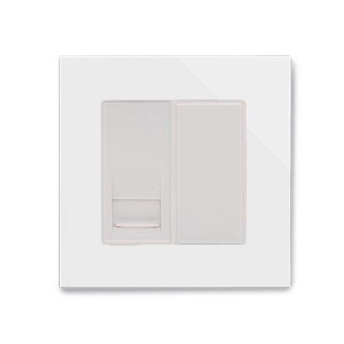 RetroTouch Single BT Slave Socket White Glass PG 04087